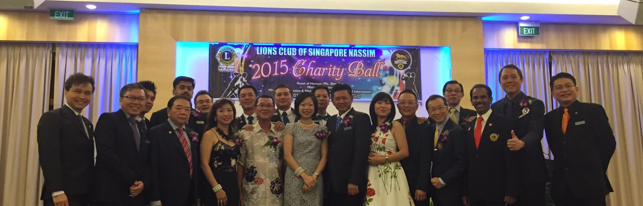 lions club charter with Ms Sim Ann in charity Ball